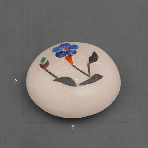 MARBLE MAGNET WITH   INLAY STONE WORK