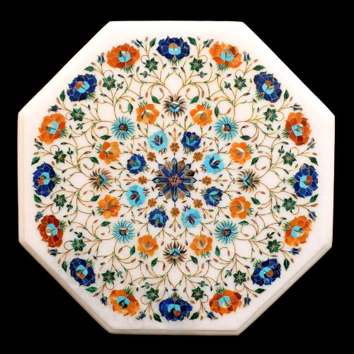 MARBLE STONE TABLE TOP INLAY STONE WORK