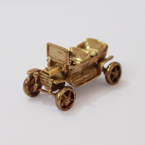VINTAGE JEEP BRASS MINIATURE TOY