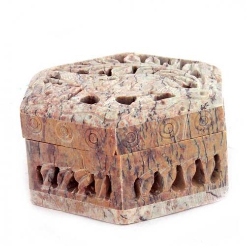 BOX JAALI CARVED