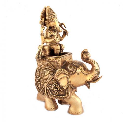 GANESHA SITTING ON ELEPHANT