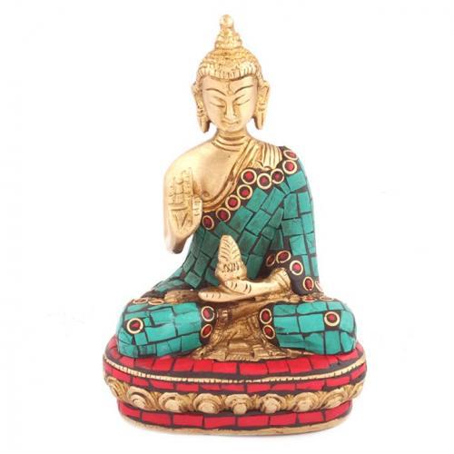 BUDDHA HAND GOLDEN STONE WORK