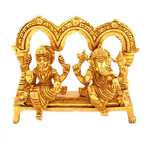 GANESHA LAKSHMI SITTING WITH FRAME