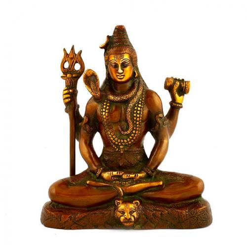 SHIVA SITTING WITH 4 ARMS