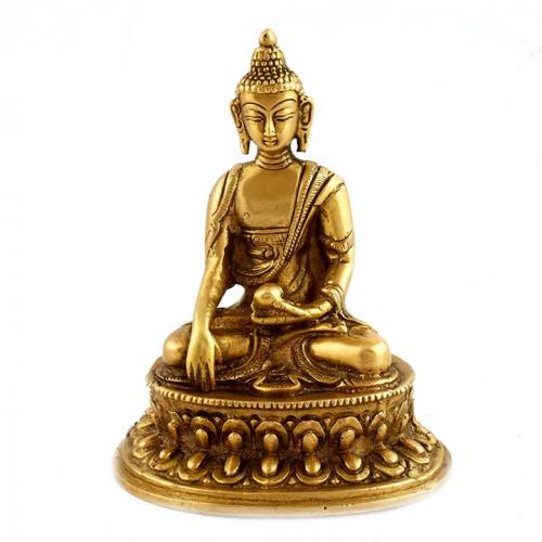 BUDDHA SITTING WITH OVAL BASE