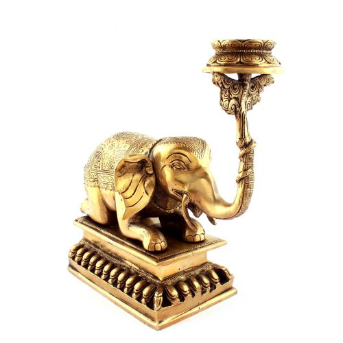 BRS ELEPHANT CANDLE STAND