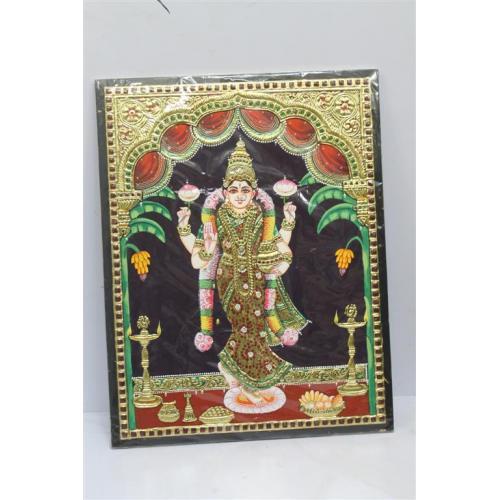 22ct Gold Goddess Lakshmi Soubhagya Lakshmi Tanjore Painting