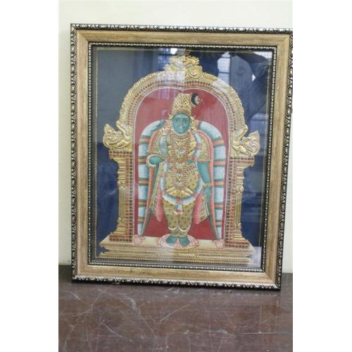 22ct Gold Handmade Goddess Andal Tanjore Painting