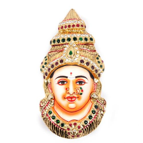 22ct Gold Goddess Lakshmi Mukhavada/Face Tanjore Painting