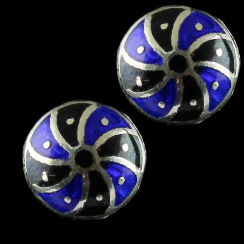 92.5 Silver Meena And Fancy Floral Earrings